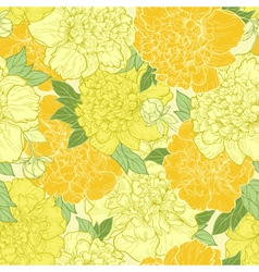 Seamless background with beautiful pattern of peon vector image