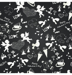 Seamless Love Romantic Wedding vector image vector image