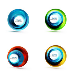 set of abstract swirls vector image