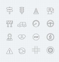 traffic thin line symbol icon vector image vector image