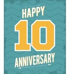 10 year celebrating anniversary graphic vector