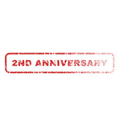 2nd anniversary rubber stamp vector