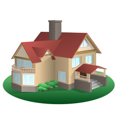 A house with a gable roof vector