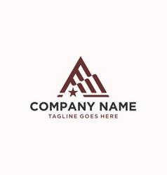 A letter flag logo design inspiration vector
