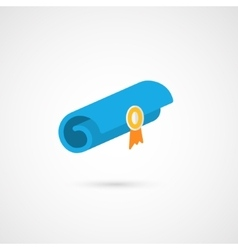 A parchment diploma scroll vector image