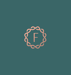 Abstract linear monogram letter f logo icon design vector