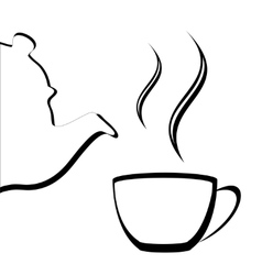Abstract Tea And Teapot vector