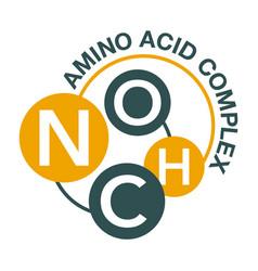Amino acid complex circular icon for products vector