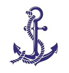 Anchor stenci symbol isolated vector