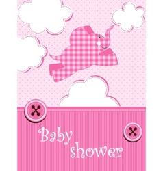 baby shower - girl vector image
