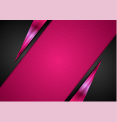 Black and pink glossy abstract corporate vector