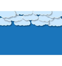 blue background with clouds vector image
