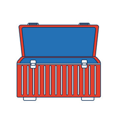 Box for carrying tools handle equipment empty open vector