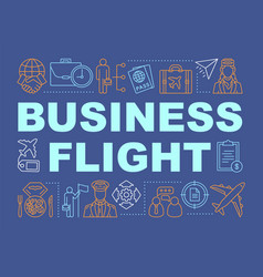 Business flight word concepts banner vector