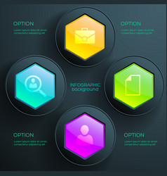 Business infographic diagram template vector