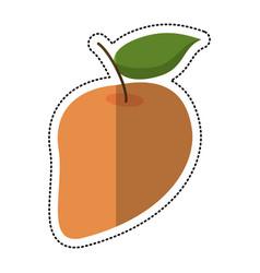 Cartoon mango juicy fruit icon vector