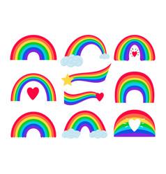 Cartoon rainbow stripes vector