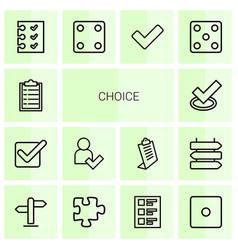 Choice icons vector