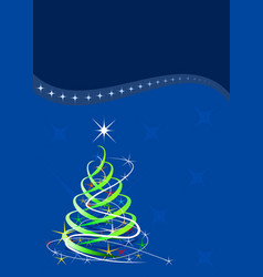 christmas template blue background with stars vector image
