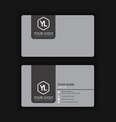 clean dark business card vector image