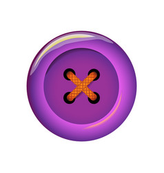 Clothes button icon art and crafts in violet vector