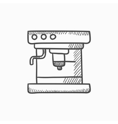 Coffee maker sketch icon vector image