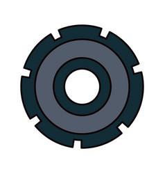 Color sketch silhouette gear wheel icon vector
