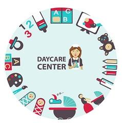 Daycare center emblem vector