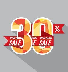 Discount 30 Percent Off vector image