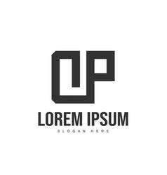 Dp letter logo design initial letter logo template vector