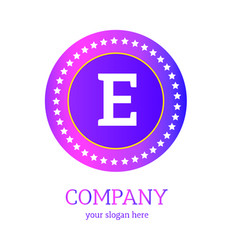 e letter logo design e icon colorful and modern vector image