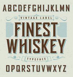 Finest whiskey poster vector