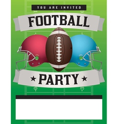 Football Party Template vector image