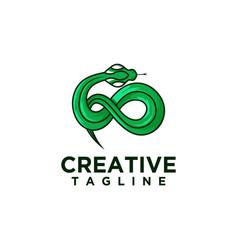 Green snake logo vector