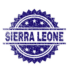 Grunge textured sierra leone stamp seal vector