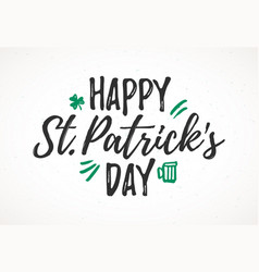Happy st patricks day greeting card 17 march vector