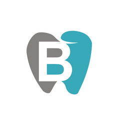 Healthy dental care letter b vector
