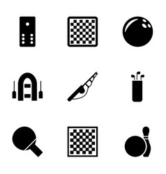 hobby icons vector image