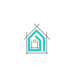 home logo building vector image