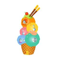 Icon icecream vector