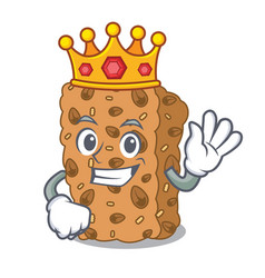 King granola bar mascot cartoon vector