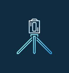 laser level tool creative line icon on dark vector image