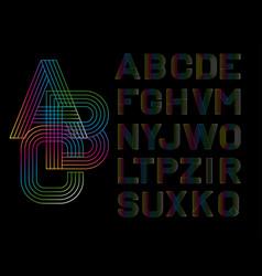 Linear font vector