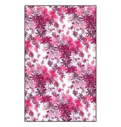 magenta floral pattern vector image