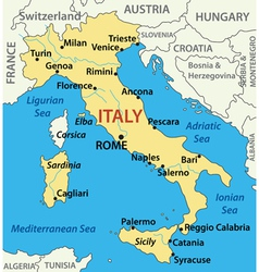 Map of italy - vector