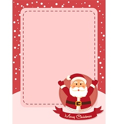 Merry Christmas Santa Banner Red vector