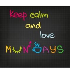 Monday attitude vector image
