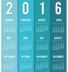 New year calendar schedule vector