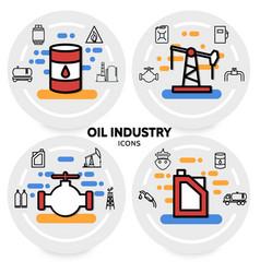 Oil industry concept vector