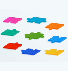 parts of colorful puzzles vector image
